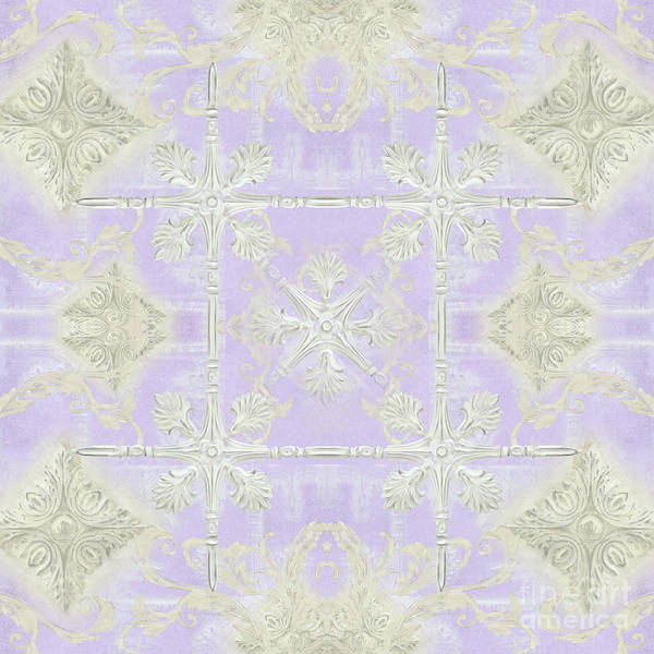 Wall Art - Painting - Inspired Coast Architectural Molding Ornament Pattern Lavender Violet by Audrey Jeanne Roberts