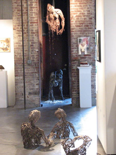 Wall Art - Sculpture - Installation View At Mixed Exhibition September 2007 Moxie Dada by Kyle Ethan Fischer