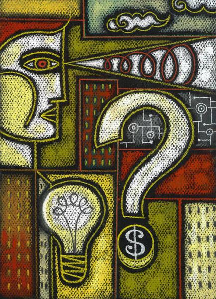 Curiosity Painting - Intelligence by Leon Zernitsky
