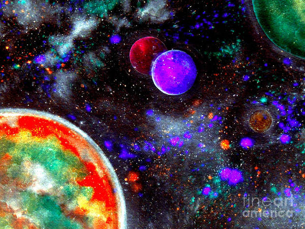Star Cluster Painting - Intense Galaxy by Bill Holkham