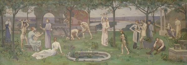 Painting - Inter Artes Et Naturam  by Pierre Puvis de Chavannes