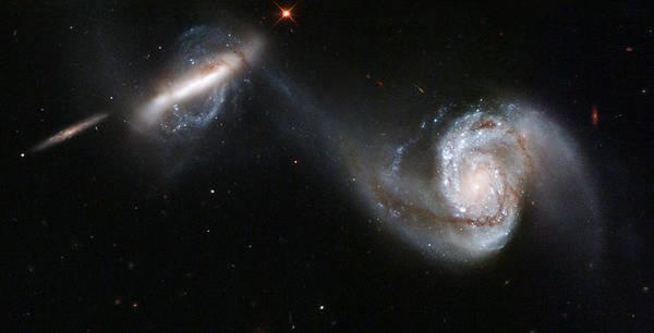 Photograph - Interacting Galaxy Pair Arp 87 by Artistic Panda