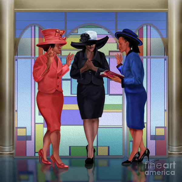 Painting - Interceding On A Sunday Morning by Reggie Duffie