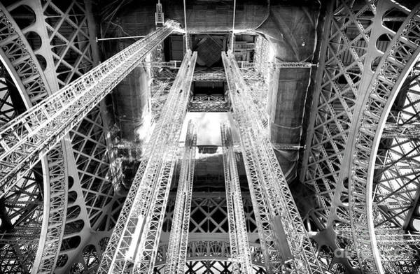 Wall Art - Photograph - Interior Eiffel Tower Paris by John Rizzuto