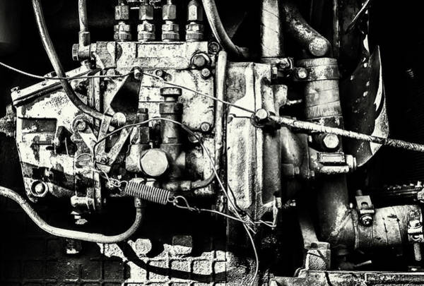 Photograph - Interior Engine Block Of A Large Industrial Machine by John Williams