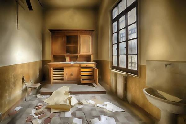 Photograph - Interior Furniture Atmosphere Of Abandoned Places Dig Paint by Enrico Pelos