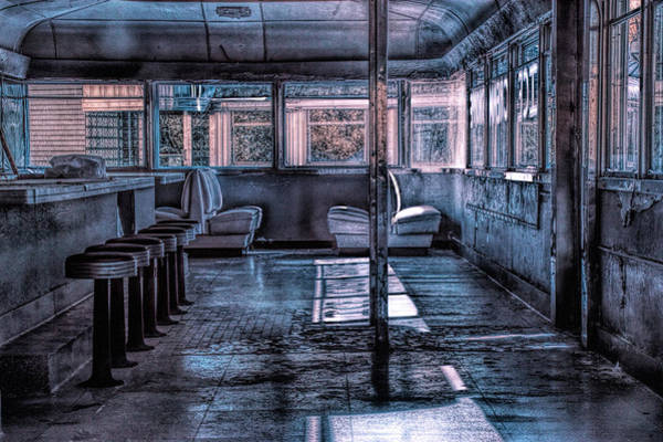 Photograph - Interior Infrared Photo Of Rosie's Ice Cream Parlor by Randall Nyhof