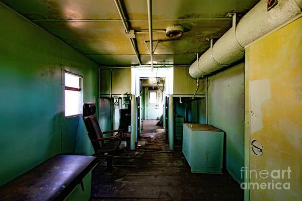 Photograph - Interior Of An Abandoned Rail Caboose by Dawid Swierczek