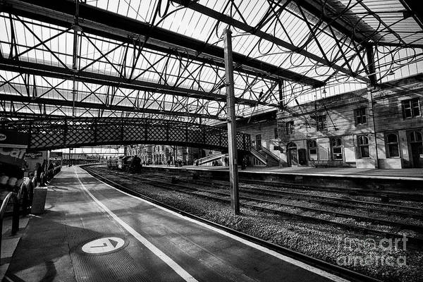 Wall Art - Photograph - interior of Carlisle railway train station Carlisle Cumbria England UK by Joe Fox