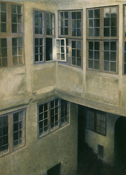 Painting - Interior Of Courtyard Strandgade 30 by Vilhelm Hammershoi