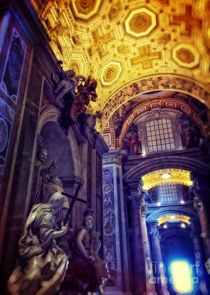St Peters Basilica Photograph - Interior Of St Peter's Basilica by HD Connelly