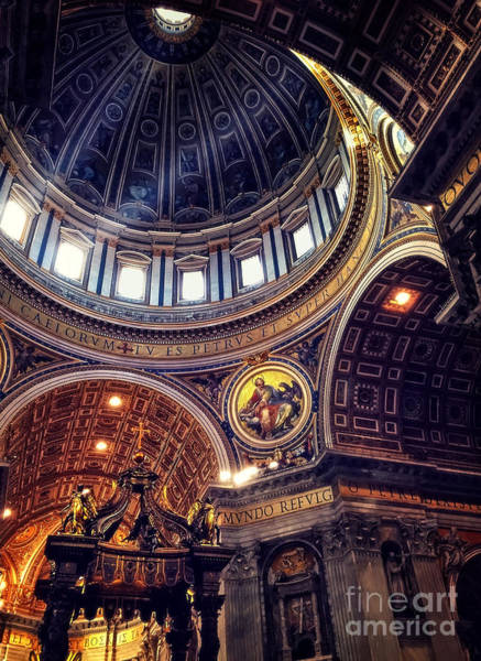 St Peters Basilica Photograph - Interior Of St Peters by HD Connelly