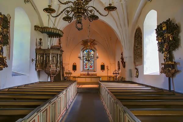 Photograph - interior of Teda church by Leif Sohlman