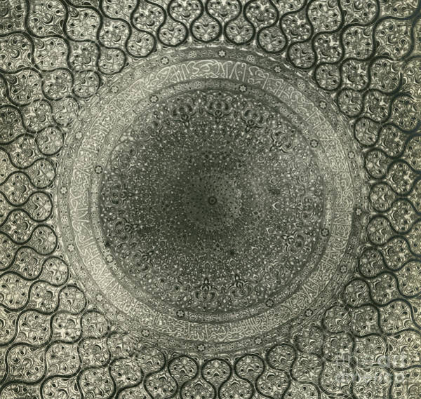 Wall Art - Photograph - Interior Of The Dome Of The Omar Mosque  Rock Dome, Jerusalem, Israel,  Circa 1900 by Anonymous