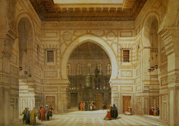 Painting - Interior Of The Mosque Of The Sultan El Ghoree by David Roberts