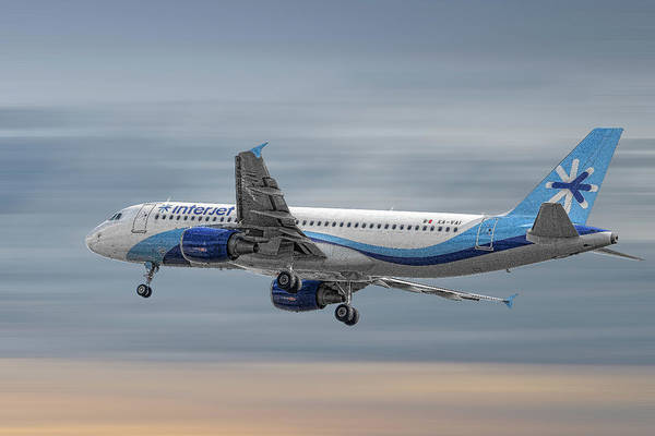 Wall Art - Mixed Media - Interjet Airbus A320-214 by Smart Aviation