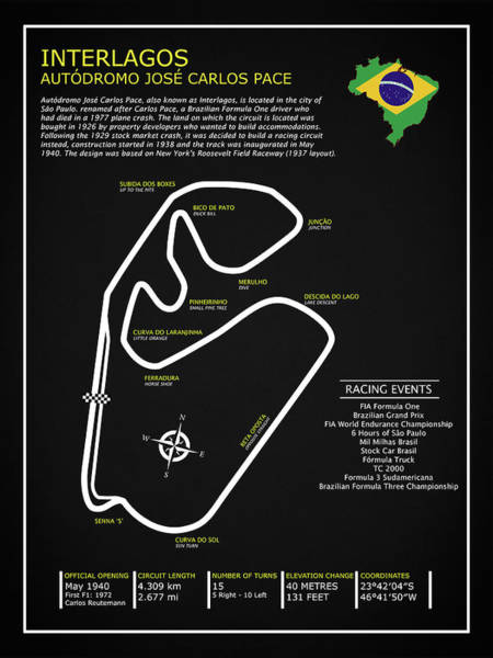 Wall Art - Photograph - Interlagos Circuit by Mark Rogan