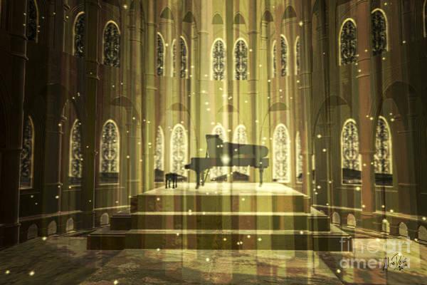 Grand Piano Digital Art - Interlude by Alina Davis