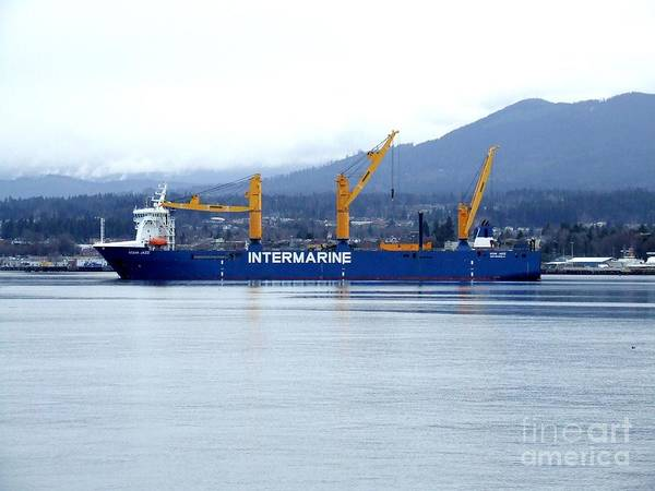 Photograph - Intermarine Heavylift Cargo Carrier Ship by Delores Malcomson