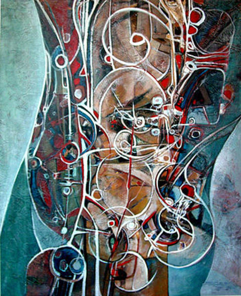 Wall Art - Painting - Internal Circuitry  by Dale  Witherow