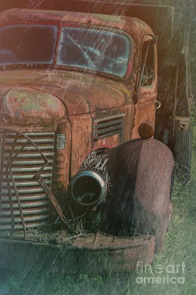 Dump Truck Digital Art - International Dump Truck In Rust by Gary Rieks