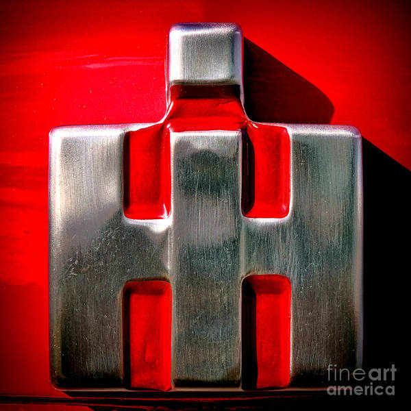 Mccormick Wall Art - Photograph - International Harvester Logo Nameplate by Olivier Le Queinec
