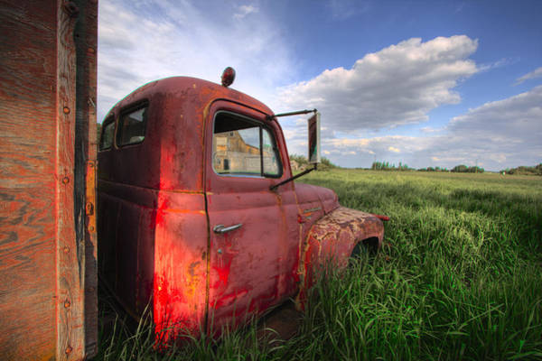Farm Truck Wall Art - Photograph - International In The Tall Grass by Dan Jurak