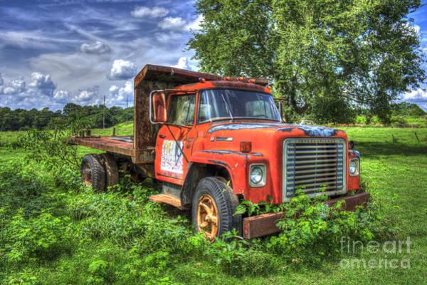 Dump Truck Photograph - International Retirement Home 1974 International Harvester Company 1600 Loadstar Truck Art by Reid Callaway