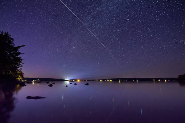 Photograph - International Space Station Over Branch Lake by Kirkodd Photography Of New England