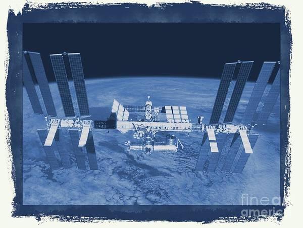 Space Exploration Digital Art - International Space Station by Raphael Terra