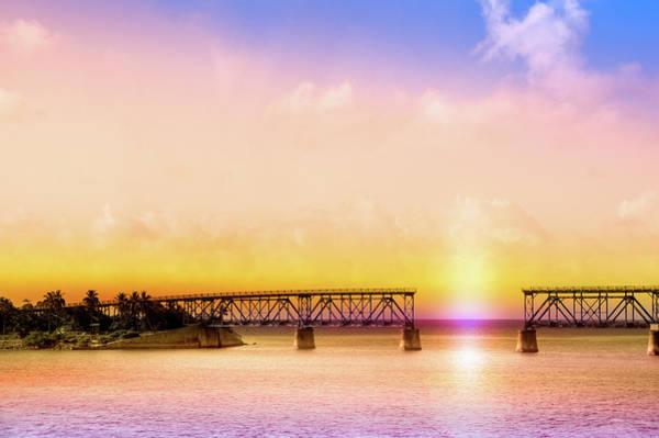Bahia Honda Photograph - The Old Bahia Honda Bridge  by Art Spectrum