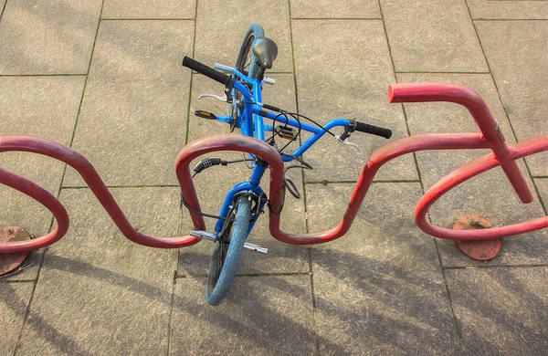 Photograph - Intersecting Bike And Bike Rack by Gary Slawsky