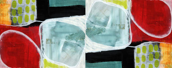 Circle Painting - Intersection 37 Part 2- Art By Linda Woods by Linda Woods