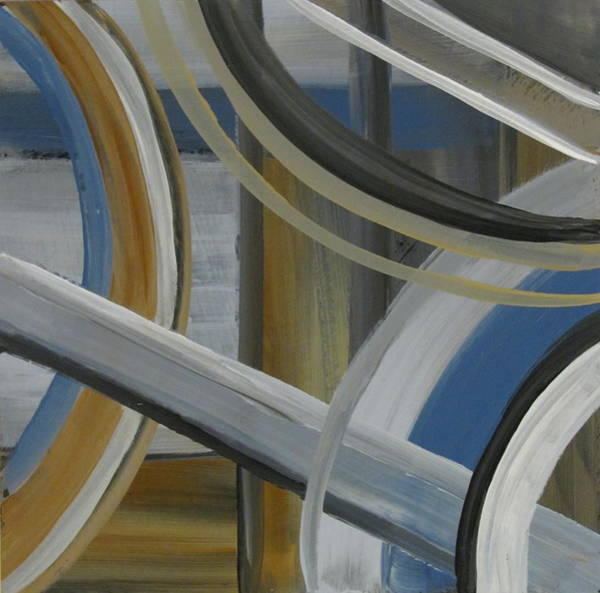Painting - Intersection In Blue 2 by Anita Burgermeister