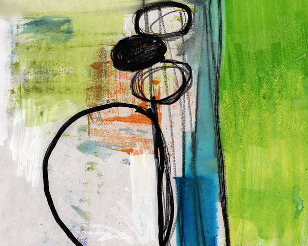 Greens Painting - Intersections #34 by Linda Woods