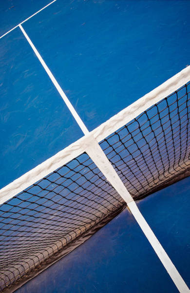 Photograph - Intersections On The Tennis Court by Gary Slawsky