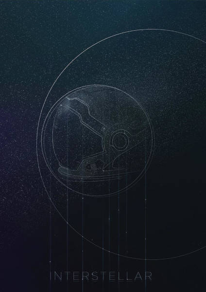 Digital Art - Interstellar Movie Poster by IamLoudness Studio