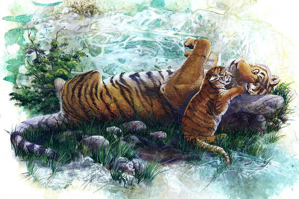 Painting - Interupted Nap by Sherry Shipley