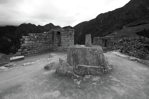 Photograph - Intihuatana Stone At Machu Picchu by Aidan Moran