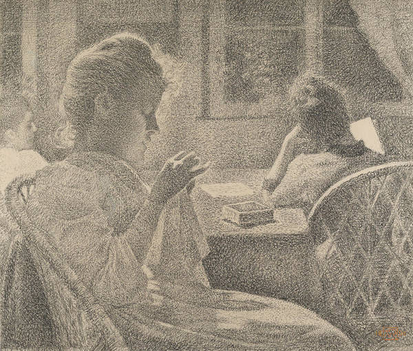 Drawing - Intimacy by Theo Van Rysselberghe