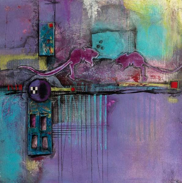 Lime Mixed Media - Intimate Moment by Laura Lein-Svencner