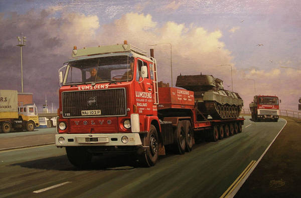 Tank Painting - Into Dover. by Mike Jeffries