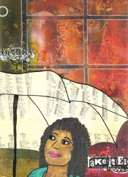 Wall Art - Mixed Media - Into Every Life Some Rain Must Fall... Sing Anyway by Angela L Walker