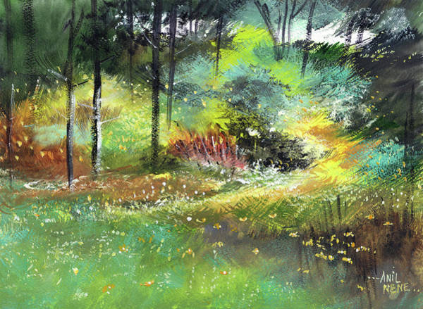 Painting - Into Jungle by Anil Nene
