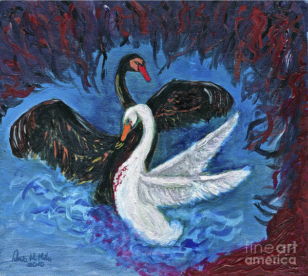 Painting - Into Loves Wings by Ania M Milo