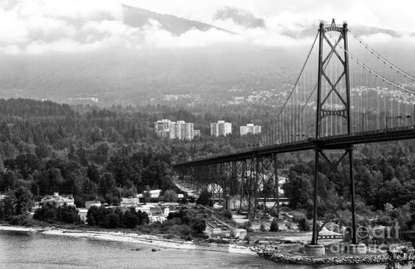 Photograph - Into North Vancouver Mono by John Rizzuto