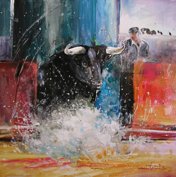 Toros Painting - Into The Arena by Miki De Goodaboom