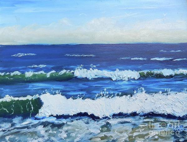 Wall Art - Painting - Into The Blue by Pamela Meredith