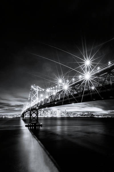 Into The City, Black And White Art Print by Vincent James