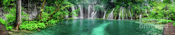 Photograph - Into The Waterfalls - Plitvice Lakes National Park Croatia by Global Light Photography - Nicole Leffer